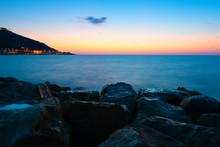 View Of The Haifa Coast At Sun...