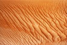 Oman, Rippled Sand On A Dune, Full Frame