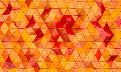 geometric background with triangular shapes.