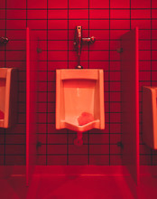 View Of Empty Public Toilet