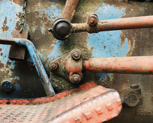 Close Up View Of Rusty Equipment