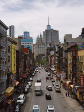 High Angle View Of Chinatown, ...