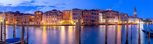 Photo Stands Mediterranean Europe Venice. Panorama of the Grand Canal at sunset.