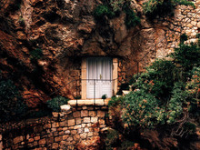 Doors Of House Built In Rocks,...