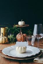 Decorative Pumpkins With Nameplate