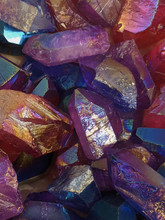 Close Up Of Iridescent Pink An...