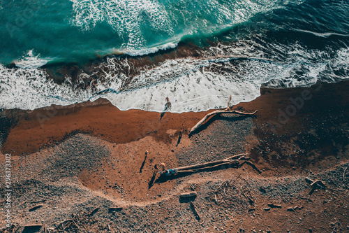 Aerial view of beach - 296373302