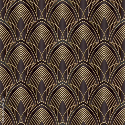 Tapety do gabinetu  vector-lines-art-deco-pattern