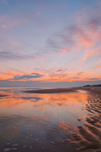 Image Of High Tide Sunset Beach