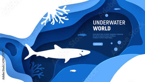 Photo  Underwater world page template
