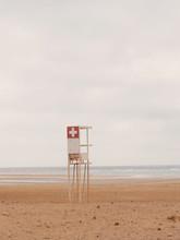 Lifeguard Stand On Empty Beach