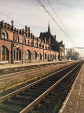 View Of Trains Tracks Running ...