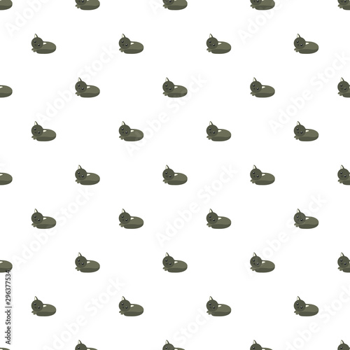Cute vector cats kawaii style seamless pattern with a white background. Funny children's wallpaper.