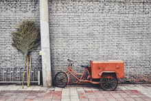 Old Tricycle With Cart