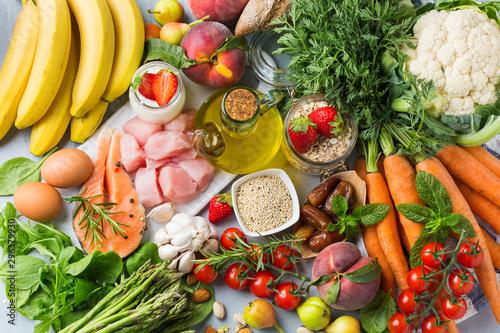 Fotografía  DASH flexitarian mediterranean diet to stop hypertension, low blood pressure