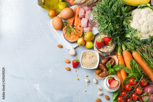 Fototapeta DASH flexitarian mediterranean diet to stop hypertension, low blood pressure obraz