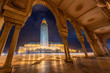 Leinwanddruck Bild - The Hassan II Mosque is a mosque in Casablanca, Morocco. It is the largest mosque in Africa, and the 3rd largest in the world.