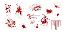 Set Of Various Blood Or Paint ...