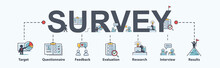 Survey Banner Web Icon For Bus...