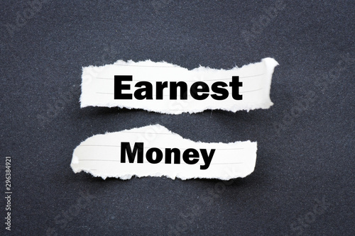 Fotomural  Earnest money business text concept