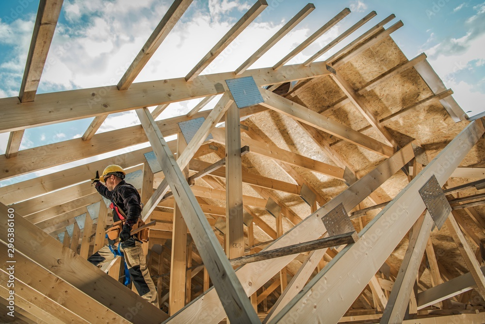 Fototapety, obrazy: Residential Construction Job