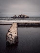 Damaged Bridge In Sea