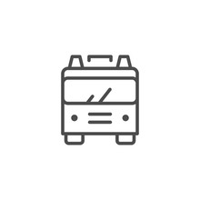 Fire Engine Line Outline Icon
