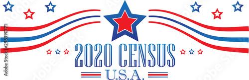 Census 2020 Banner Tapéta, Fotótapéta