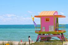 Lifeguard Station Tower On Mia...