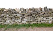 Dry Stone Wall, Traditional Farm Wall Building Technique Used In UK, Especially Yorkshire And Lancashire
