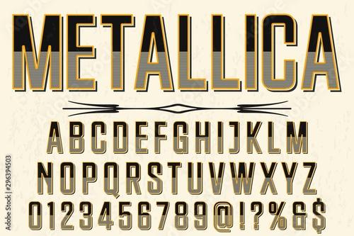 Photo  font script typeface vector metallica