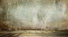 Old Wooden Background For Montage Or Product Presentation.