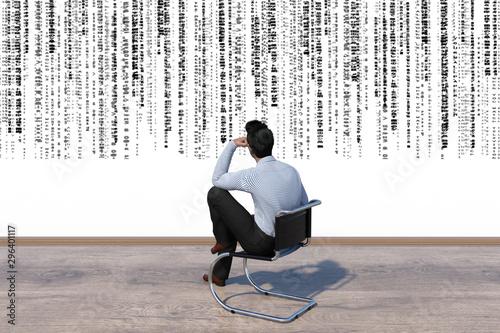 Fényképezés organization hierarchy concept, business man manage complex logic of mindmap