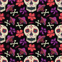 Day Of The Dead Pattern Dia De Los Muertos