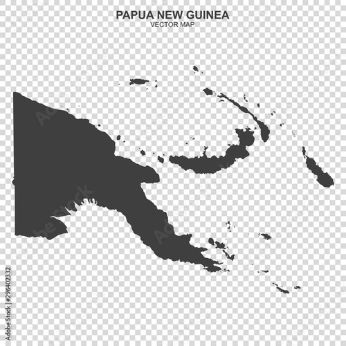 Fototapeta political map of Papua New Guinea isolated on transparent background
