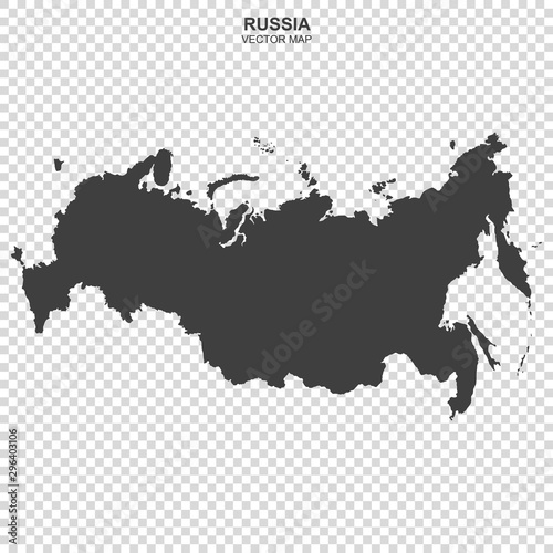Obraz na plátně  political map of Russia isolated on transparent background