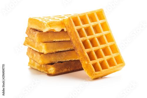 Cuadros en Lienzo Tasty sweet waffles.