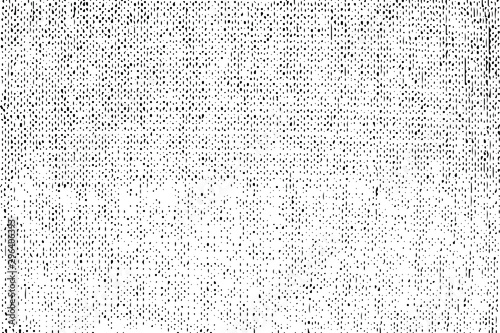 Fototapeta Rich, heavy fabric texture. Vector texture of weaving cloth. Grunge background. Abstract halftone vector illustration. Overlay for interesting effect and depth. Black isolated on white background. obraz
