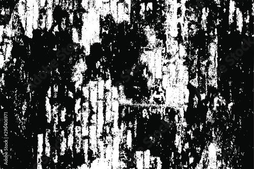 Uneven black and white texture vector Fototapeta