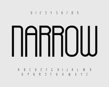 Narrow Bold Font With Thin Tal...