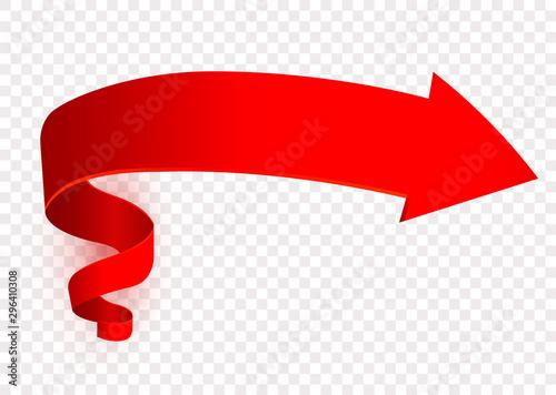 Fotografía Red arrow symbol, right direction sign, signpost