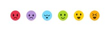 Set Of Vector Emoticons With D...