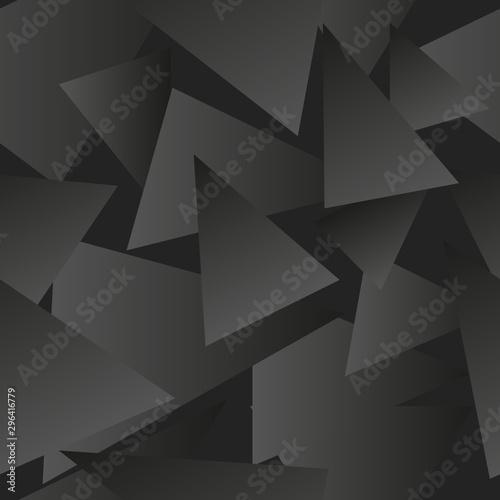 Fototapeten Künstlich triangles black background gradient black greay