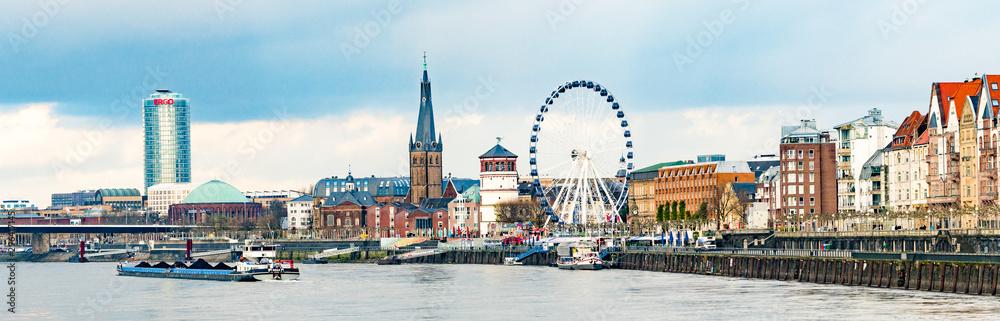 Fototapeta old town of Dusseldorf at the river Rhine in Germany
