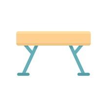 Gymnastic Bar Icon. Flat Illus...
