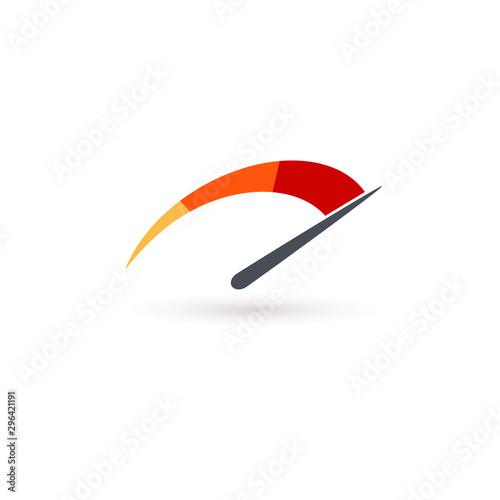 Photo Auto speedometer or business speedometer icon template