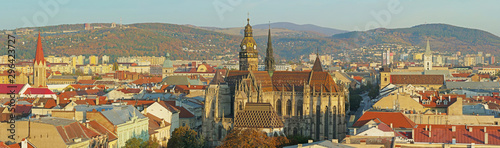 St Elisabeth Cathedral and Kosice city center panorama