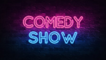Comedy Show Neon Sign. Purple ...