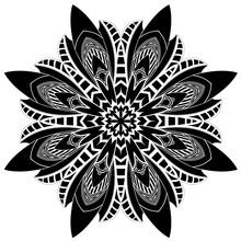 Black Flower Mandala - Kamikaze Design 4