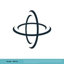 Orbit Swoosh Science Icon Vect...